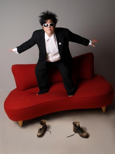 Lea DeLaria, couch and shoes