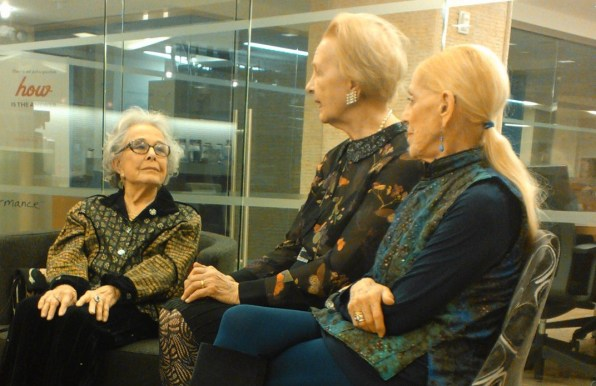 (L-R) Marge Champion, Taina Elg, Sondra Lee. Image by Martha Wade Steketee.