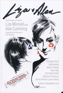 LIZA & ALAN TOWN HALL SHOW ADDED POSTER