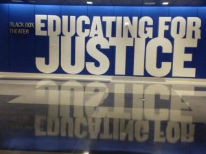 John Jay College of Criminal Justice Black Box Theatre signage. Image by Martha Wade Steketee.