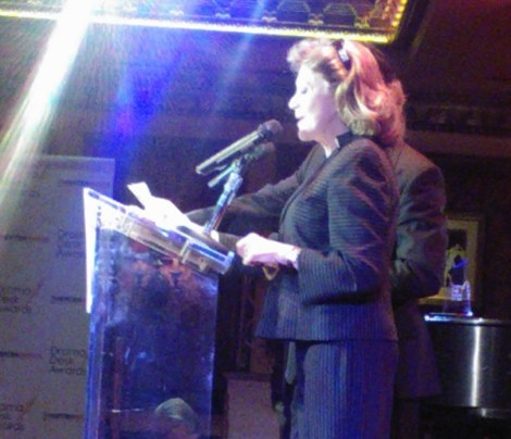 29 April 2013. Linda Lavin announces some of the nominees to the awaiting press and other interested parties. Image by Martha Wade Steketee