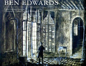 "Article cover image for ""Monograph: Ben Edwards"" in CHANCE issue 0 page 148. Image featured is a paint elevation by Edwards for his set and lighting design for THE ASPERN PAPERS (1962) at the Playhouse Theatre in NYC."