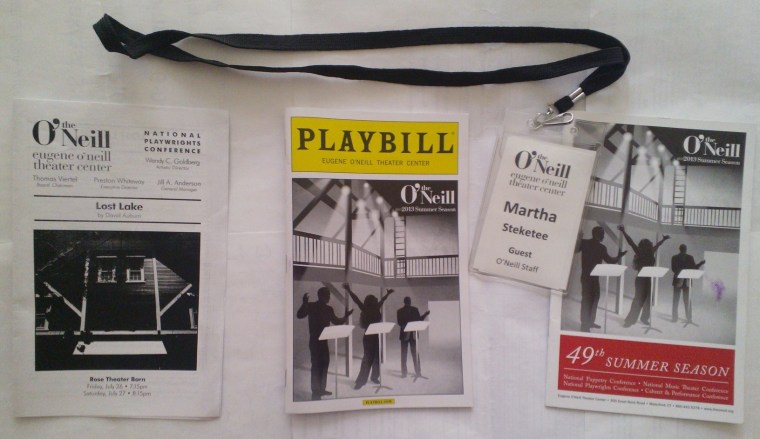(L-R) David Auburn LOST LAKE reading insert, 2013 Summer Season Eugene O'Neill Theater Center Playbill, my