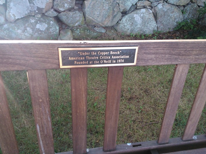 ATCA Bench plaque, commemorating the organization's founding at the O'Neill, 1974.