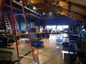 The Dina Merrill Theater being readied for the cabaret performances that will round out the summer of 2013 at the O'Neill.