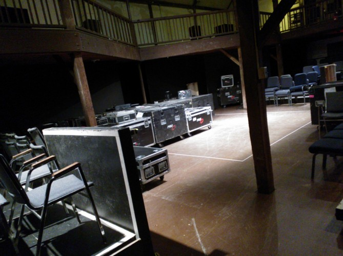 The Rufus and Margo Rose Theater Barn (in post-performance strike mode).