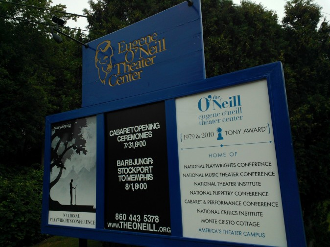 The many programs, activities, and awards of the O'Neill greet you as you enter the grounds off Great Neck Road in Waterford, Connecticut.