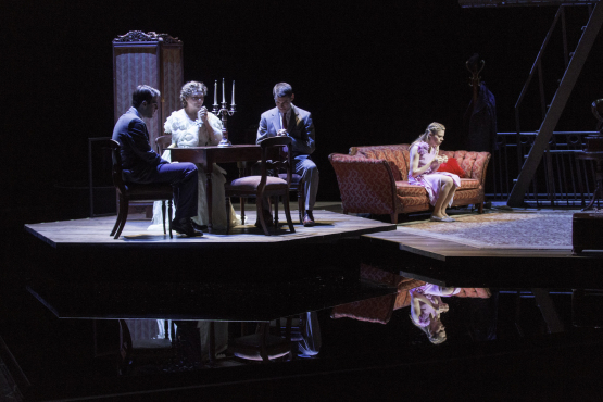 (L-R) Zachary Quinto, Cherry Jones, Brian J. Smith, Celia Keenan-Bolger (image by Michael J. Lutch)