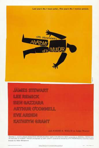 Original movie poster designed by the incomparable Saul Bass.