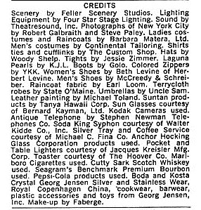 """Text from page 10 of original Company production Playbill documenting """"Steve Paley"""" as one of the photographers for the images of New York City that were projected throughout the production."""