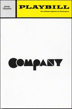 Playbill for original production of Company (1970-1972).