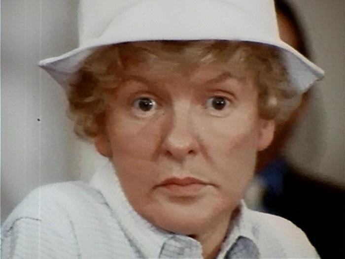 Elaine Stritch in repose. Original Cast Album: Company (1970). Screen capture by Martha Wade Steketee.