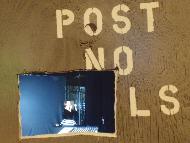 A project image (among many) viewed through a peephole, as if through a construction fence. Image by Martha Wade Steketee.