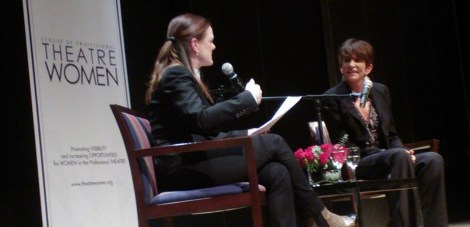 (L-R) Andrea Chapin, Mercedes Ruehl. Image by Martha Wade Steketee