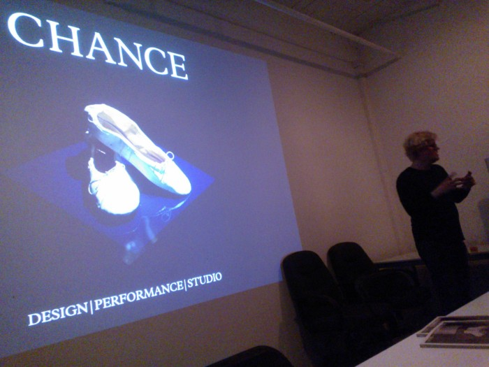 31 March 2014 at Wingspace. Fitz Patton at left, and an advance look at the cover of Chance Magazine issue 3, Couture   Stage.