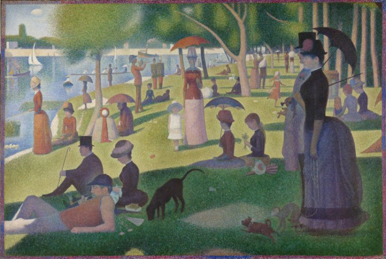 Georges Seurat. A Sunday on La Grande Jatte -- 1884, 1884-86.
