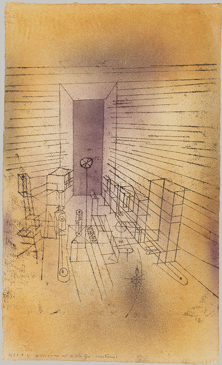 Paul Klee. Ghost Chamber with the Tall Door (New Version), 1925.
