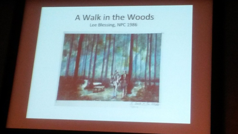 Dream Design sketch for Lee Blessing's A Walk in the Woods. Image by Martha Wade Steketee.