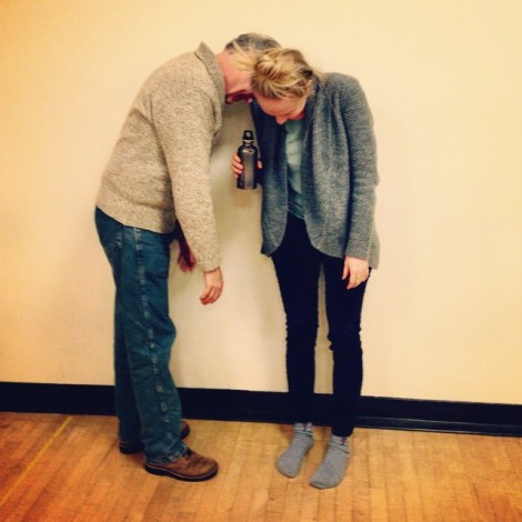Reed Birney & Halley Feiffer in rehearsal. Photo by Betty Gilpin.