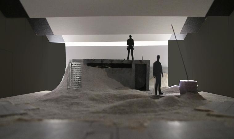 AZAK set model. Set design by Raul Abrego.