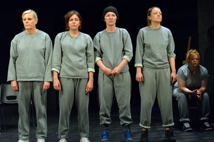 [L-R] Judi Earl, Cheryl Dixon, Jessica Johnson, Christina Berriman Dawson, Victoria Copeland. Image by Keith Pattison.