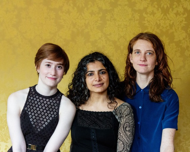 [L-R] Rachel Sussman, Riti Sachdeva, Lee Sunday Evans. Image by Emma Pratte.