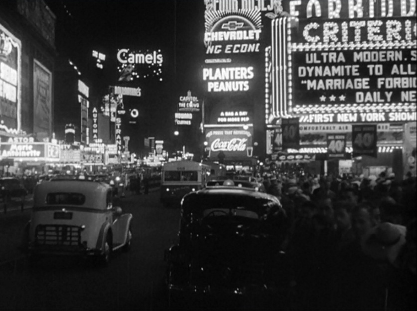 1941 Times Square. Screen capture from opening sequence of Babes on Broadway (1941).