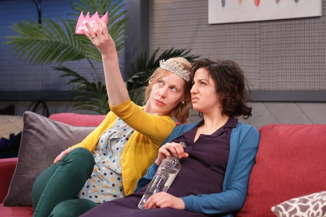 Abby Rosebrock & Layla Khosh in DIDO OF IDAHO at Ensemble Studio Theatre, Photo by Gerry Goodstein